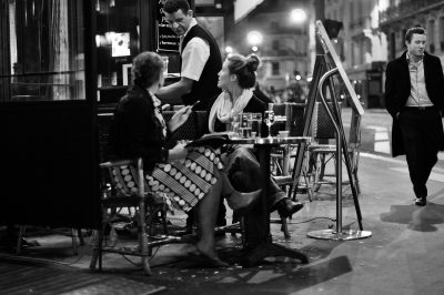 Cafe terrace in Paris, France