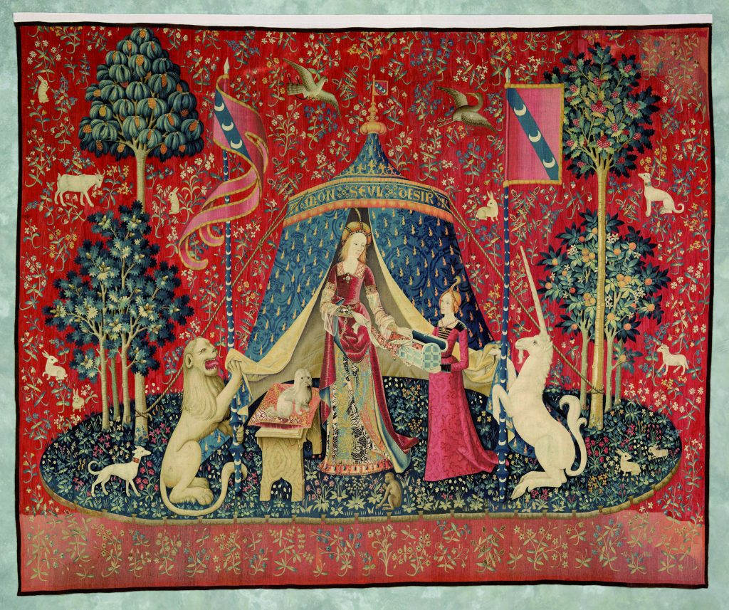 """La Dame a la licorne/""""A mon seul désir"""", Around 1500. Musée Cluny, Paris"""
