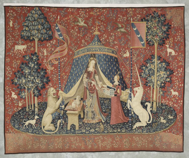 "Lady and the Unicorn, ""A mon seul désir"", Musee Cluny, Paris"