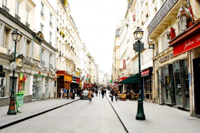 Rue Montorgueil in Paris: close to the city center, but with village vibes.