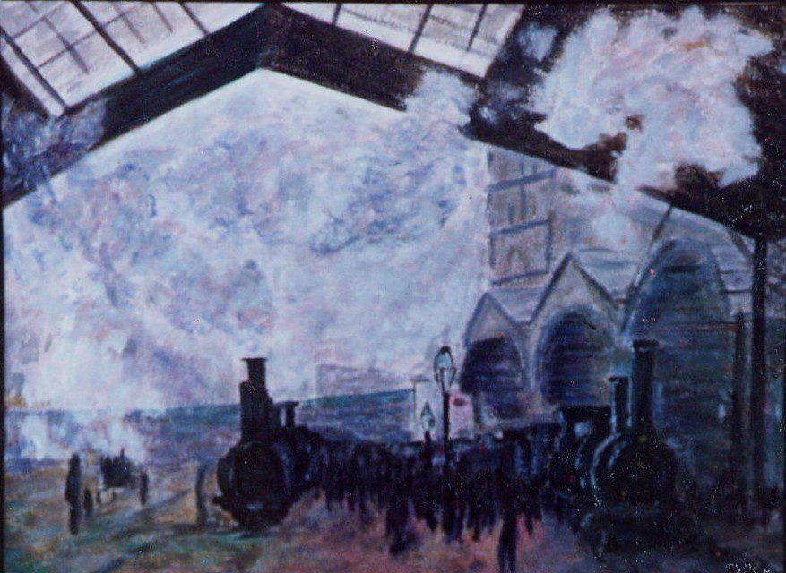 """Claude Monet, """"Le Gare du Nord"""". Public domain."""