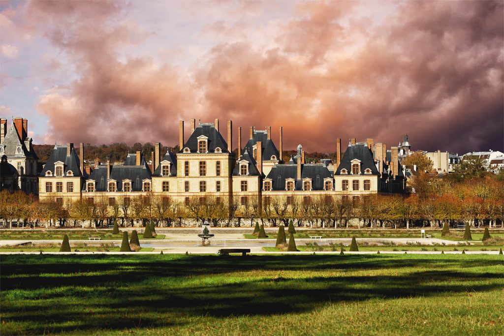 The Chateau at Fontainebleau under dramatic skies. I