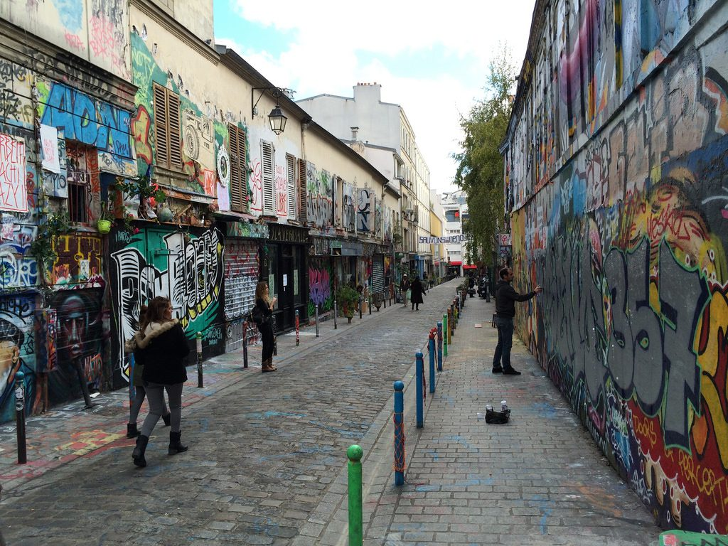 Belleville, Rue Denoyez: one of the most interesting places for street art in Paris. Nelson Minar/Creative Commons