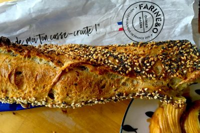 Multiseed baguette from Farine & O, a bakery in Paris' 11th arrondissement