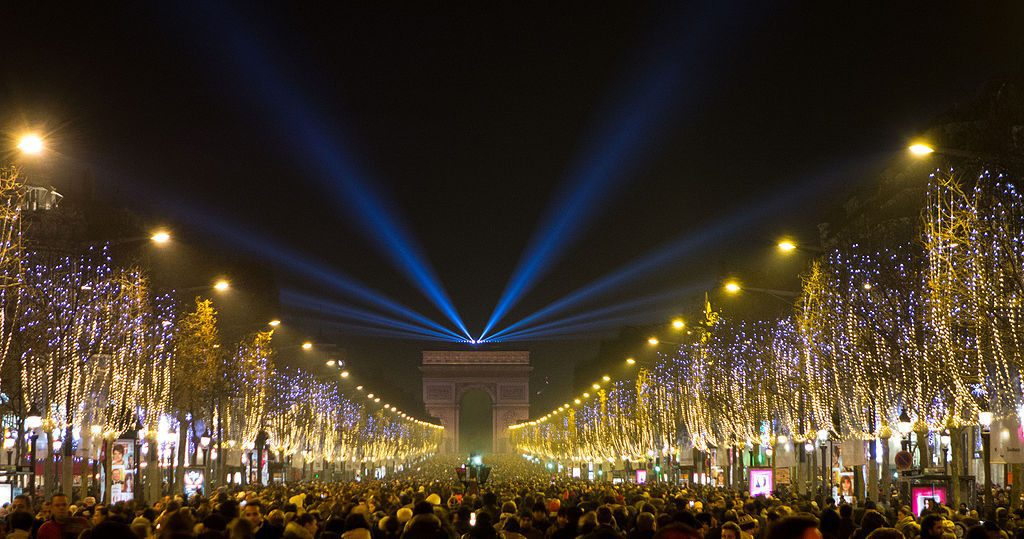New Years on the Champs-Elysées, Paris