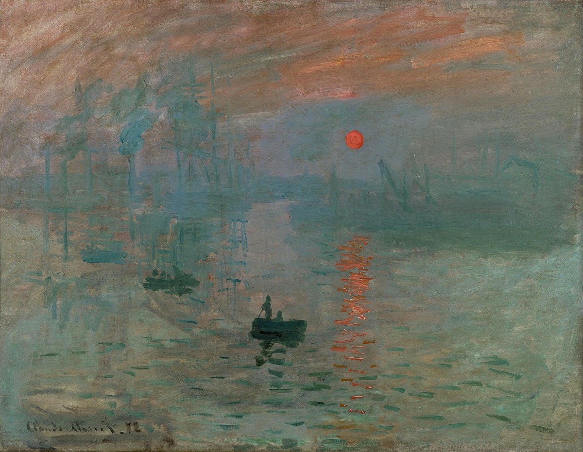 "Claude Monet, ""Impression, Sunrise"", oil on canvas, 1872. Public domain"