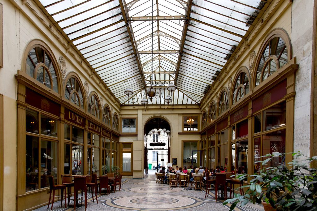 "The covered passageways of Paris, also referred to as ""galeries"" or ""arcades"", offer old-world elegance. Image: Marmontel/Creative Commons 2.0 license"