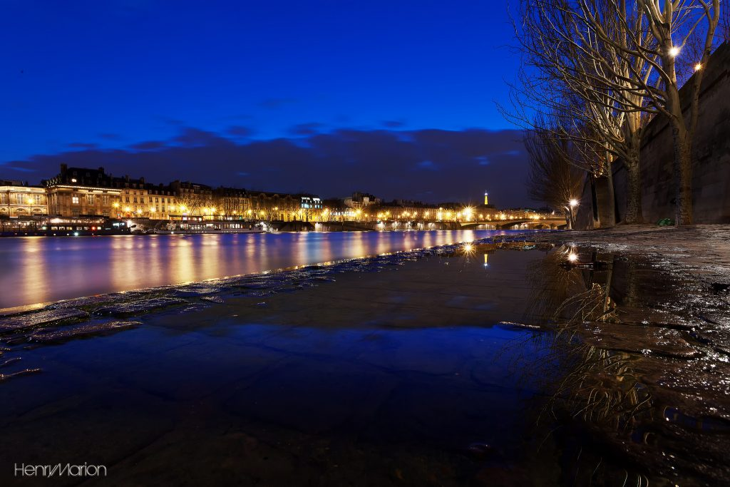 Paris, winter by the Seine. It's often chilly and wet at the year's beginning. Credit: Henry Marion/Creative Commons 2.0 license