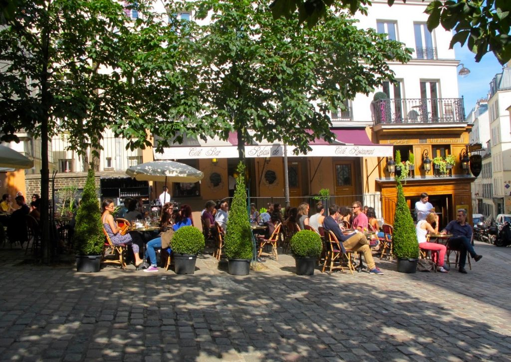 A cafe terrace near Abbesses, in Montmartre. Image: Courtney Traub/All rights reserved