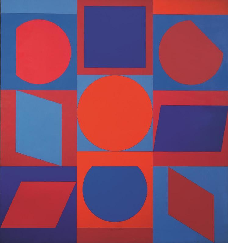 Victor Vasarely, Kalota II (1960 - 1964) (RMN)