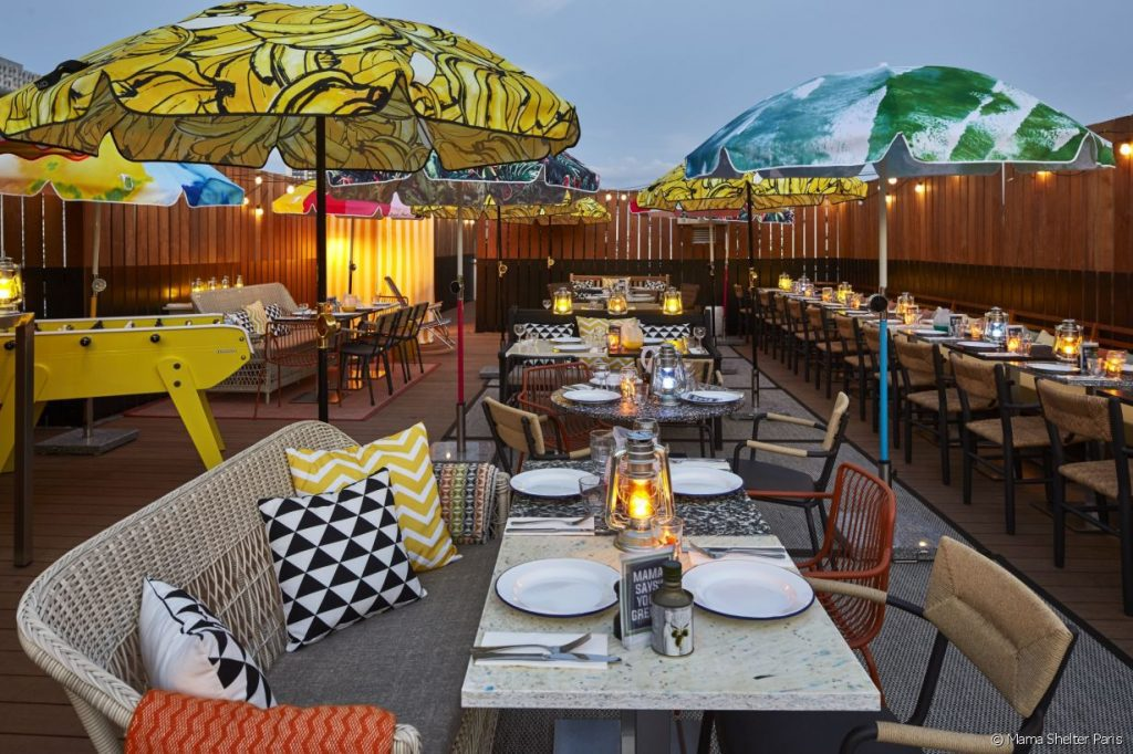 Mama Shelter's rooftop bar in Paris is pure summer.