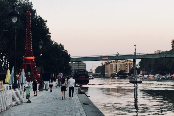 Canal de l'Ourq during Paris Plages beach event