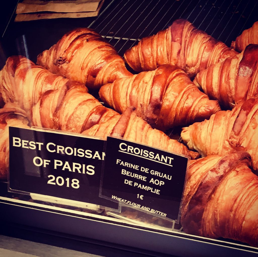 "All-butter croissants at La Maison d'Isabelle, a Latin Quarter bakery serving some of the best ""croissants au beurre"" in Paris. Image: Courtney Traub/All rights reserved."