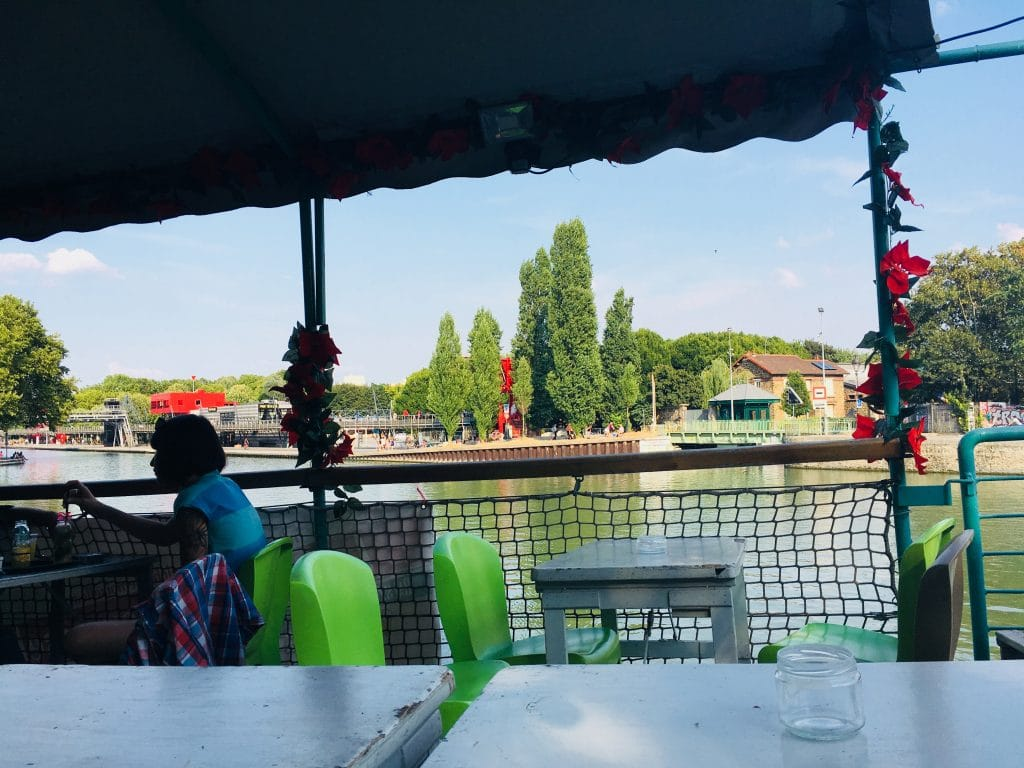 The Peniche Demoiselle is a boat-bar on the right bank of the Bassin de la Villette, not far from the entrance to the park. Image: Courtney Traub/All rights reserved.