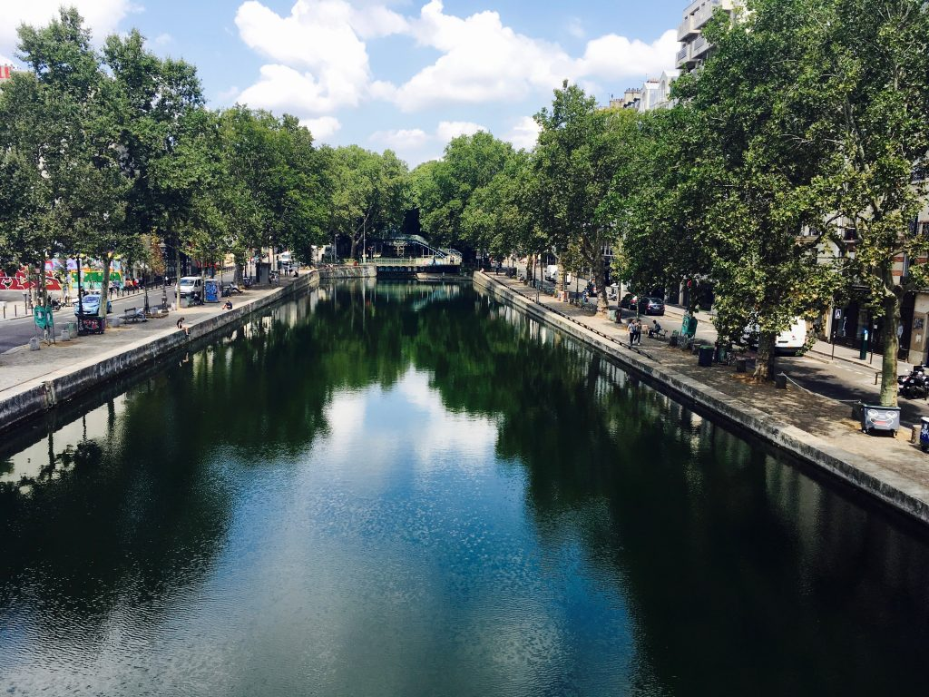 View over the Canal St-Martin from one of its graceful green bridges. Image: Courtney Traub/All rights reserved