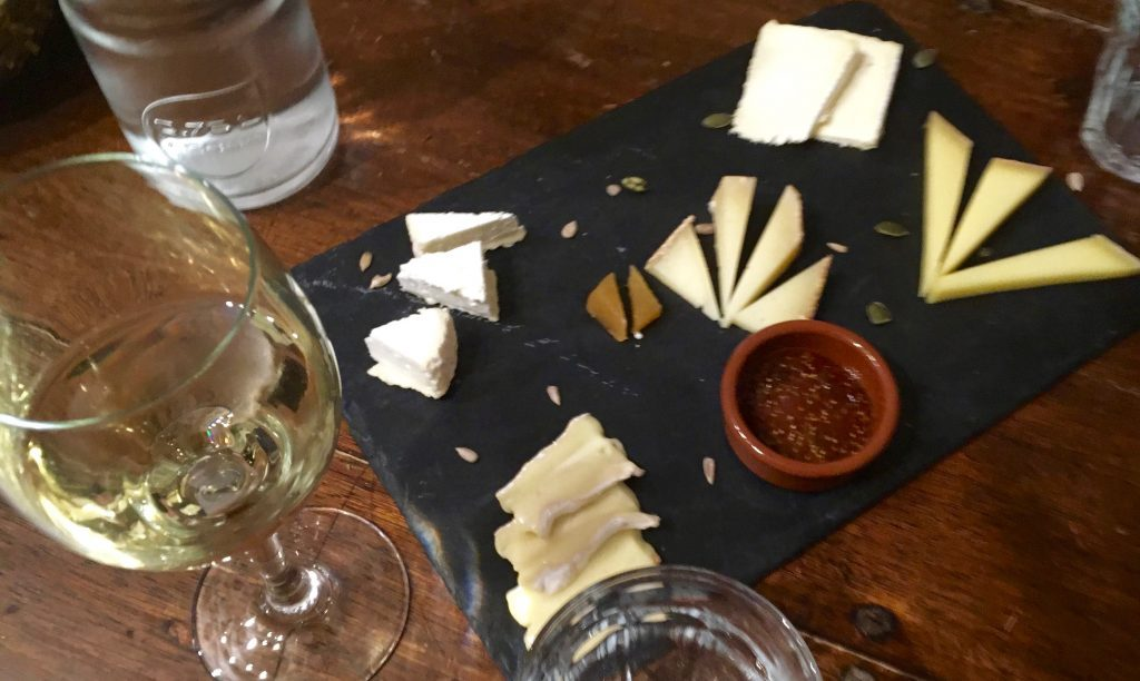 Wine and cheese tasting in the cellars of Paroles de Fromagers. Image: Courtney Traub/All rights reserved