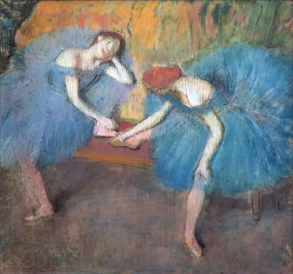 "Edgar Degas, ""Danseuses Bleues"", 1897."