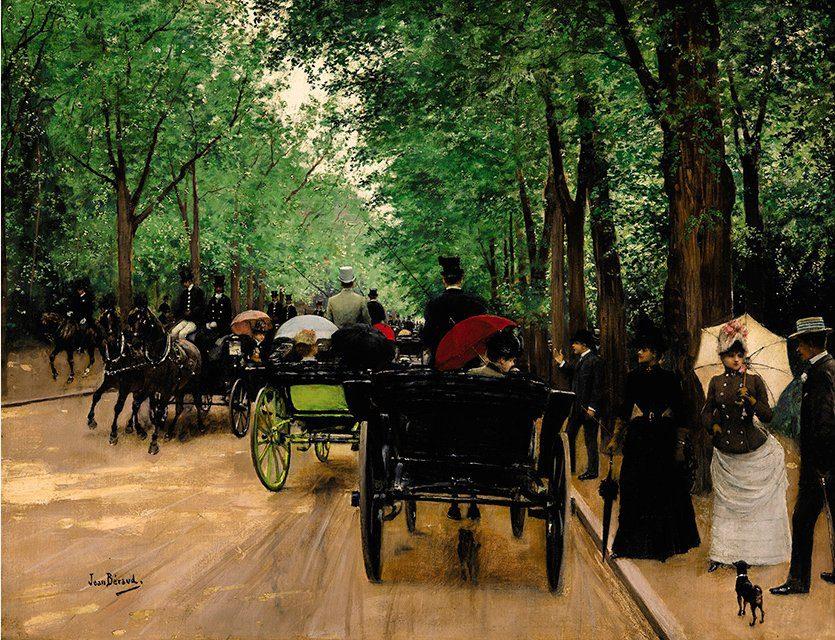 """Jean Béraud, """"Bois de Boulogne"""". Public domain."""