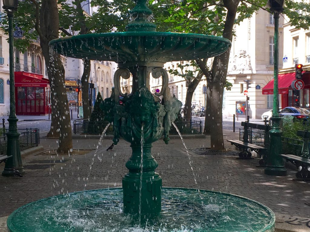 A typical fountain on a quiet Latin Quarter square. Image: Courtney Traub/All rights reserved