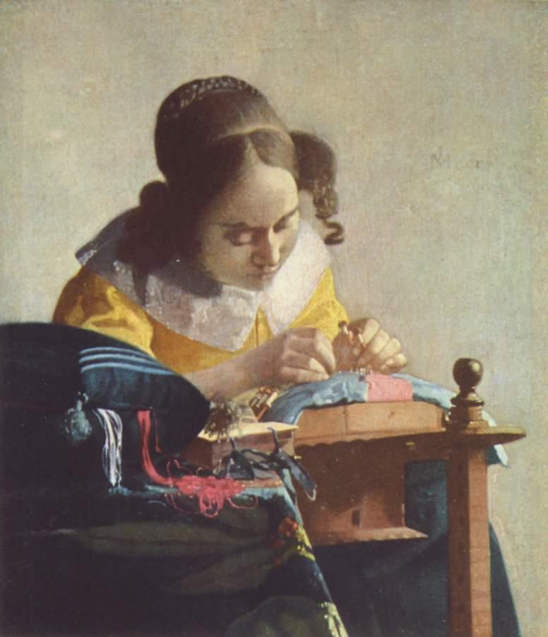 Johannes Vermeer, The Lacemaker, circa 1664, Musée du Louvre, Paris