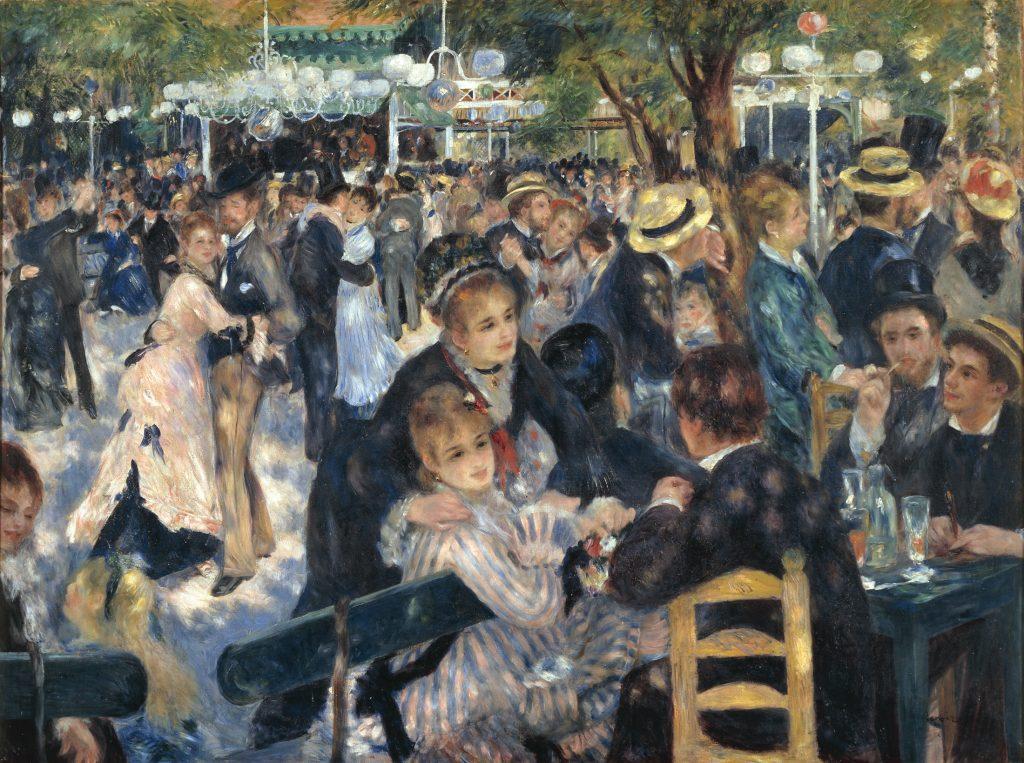 """Pierre-Auguste Renoir, """"Le Moulin de la Galette"""", circa 1876. Musée d'Orsay, Paris."""