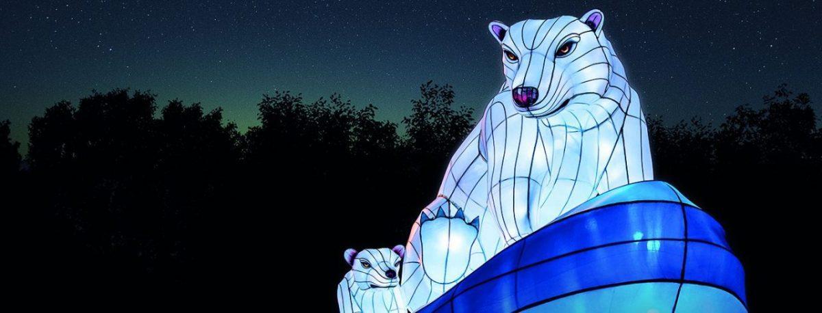 Polar bears at the Especes en voie d'illumination show, Paris. Image: China Light Festival B.V,