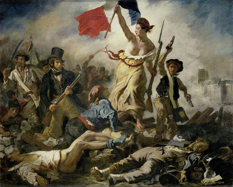 Eugène Delacroix, Liberty Leading the People, 1830. Musée du Louvre, Paris