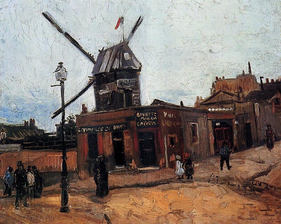 "Vincent Van Gogh, ""Le Moulin de la Galette"" (part of an 1886 series. Public domain"