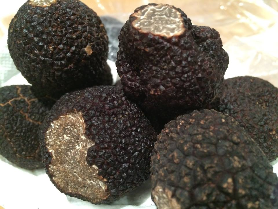 Black truffles at the Epicerie Fine Rive Gauche, Rue Cler, Paris. Official FB page