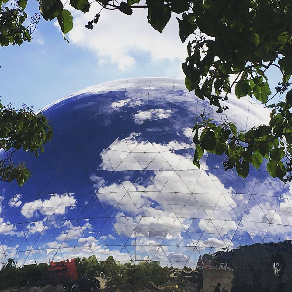 "The ""Geode"" dome at La Villette is quite an impressive sight, especially up-close. Image: Courtney Traub/All rights reserved"