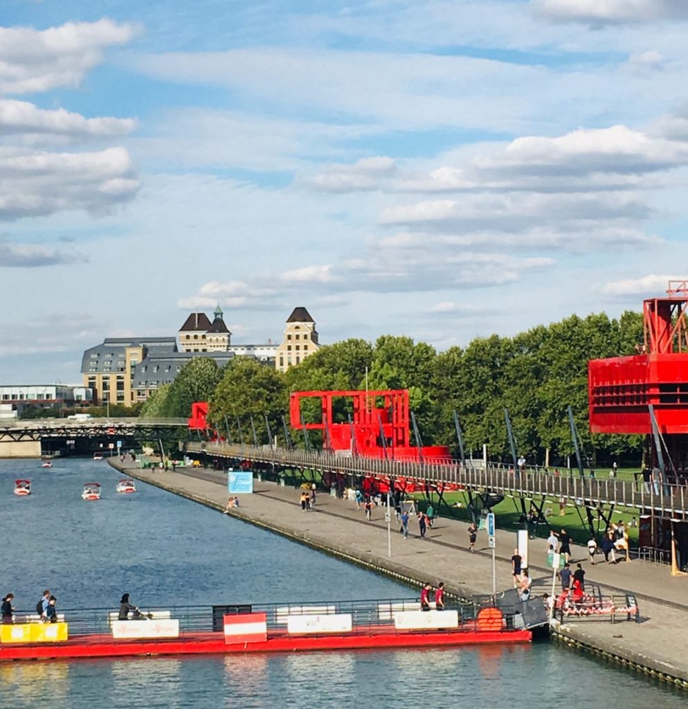 The Bassin de la Villette stretches alongside the park, making for a pleasant walk on a warmer day. Image: Courtney Traub/All rights reserved