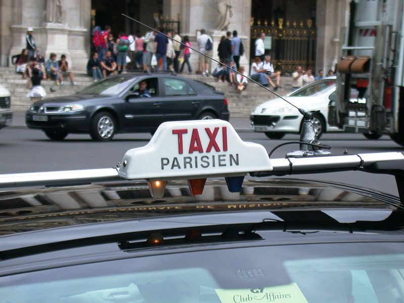 Never get in a Paris taxi without a meter and an illuminated rooftop sign.