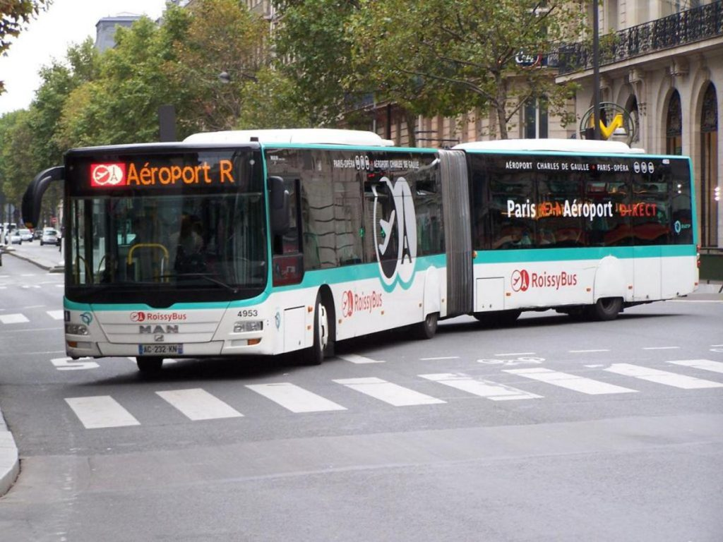 Roissybus is a bus service connecting Paris Charles de Gaulle airport with the city center, near the Opera Garnier.