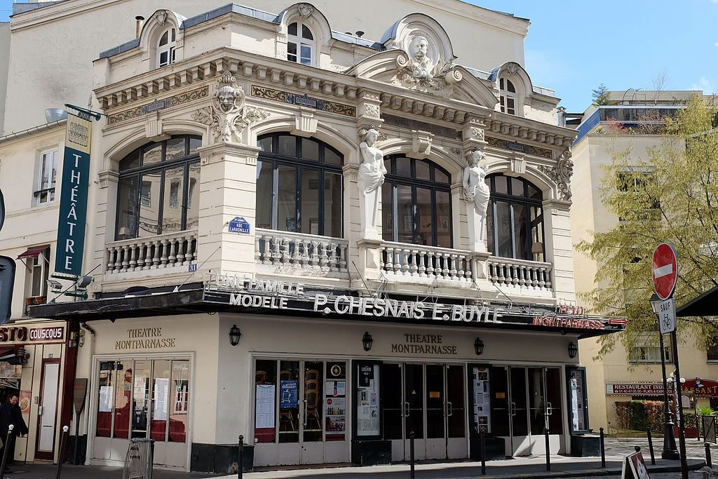 The Montparnasse district is filled with old theatres such as this one. Wikimedia Commons