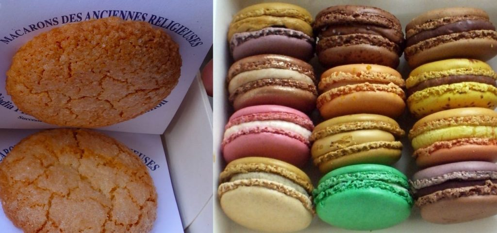 The history of French macarons is a disputed, and fascinating, one. Images: EMCD and Sucrissime blog (left to right).
