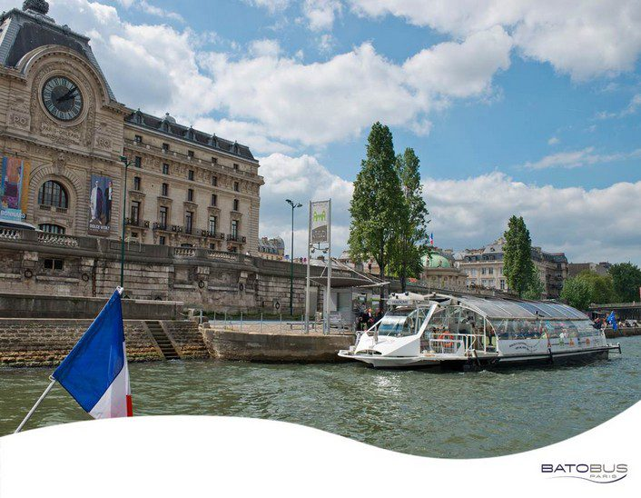 Batobus is a hop-on, hop-off boat company in Paris with nine stops.