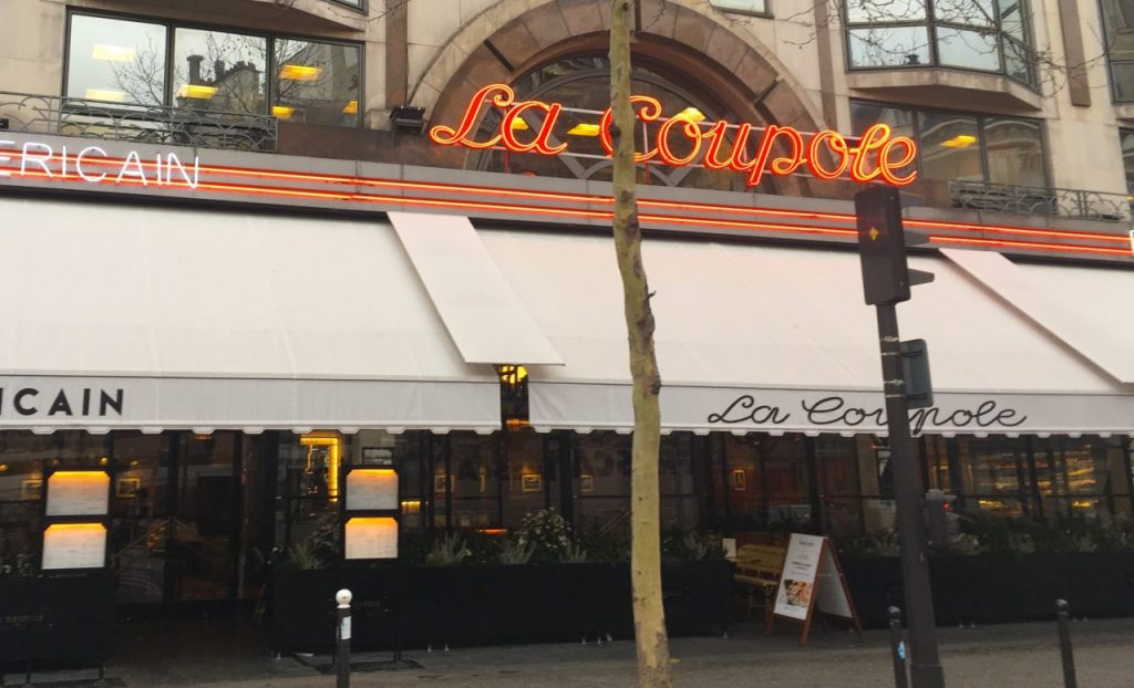 La Coupole brasserie in Paris, France, Montparnasse, facade
