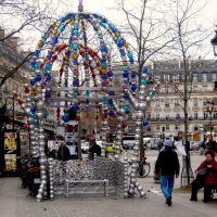 The quirky entrance to the metro at Place Colette, Paris. Patrick Janicek/Creative Commons