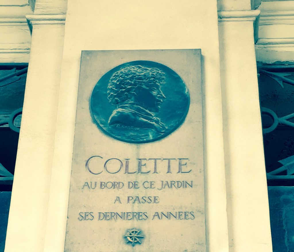 A plaque commemorates French writer Colette at the Palais Royal. Courtney Traub/All rights reserved