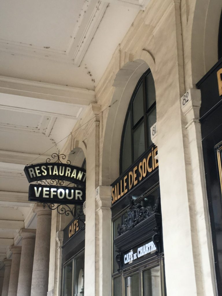 Le Grand Véfour restaurant holds three Michelin stars. Image: Courtney Traub/All rights reserved