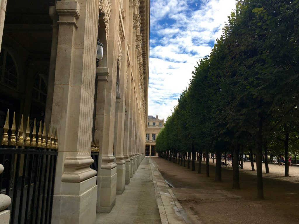 There's something surprisingly quiet and intimate about the Palais Royal-- at least some of the time. Courtney Traub/All rights reserved