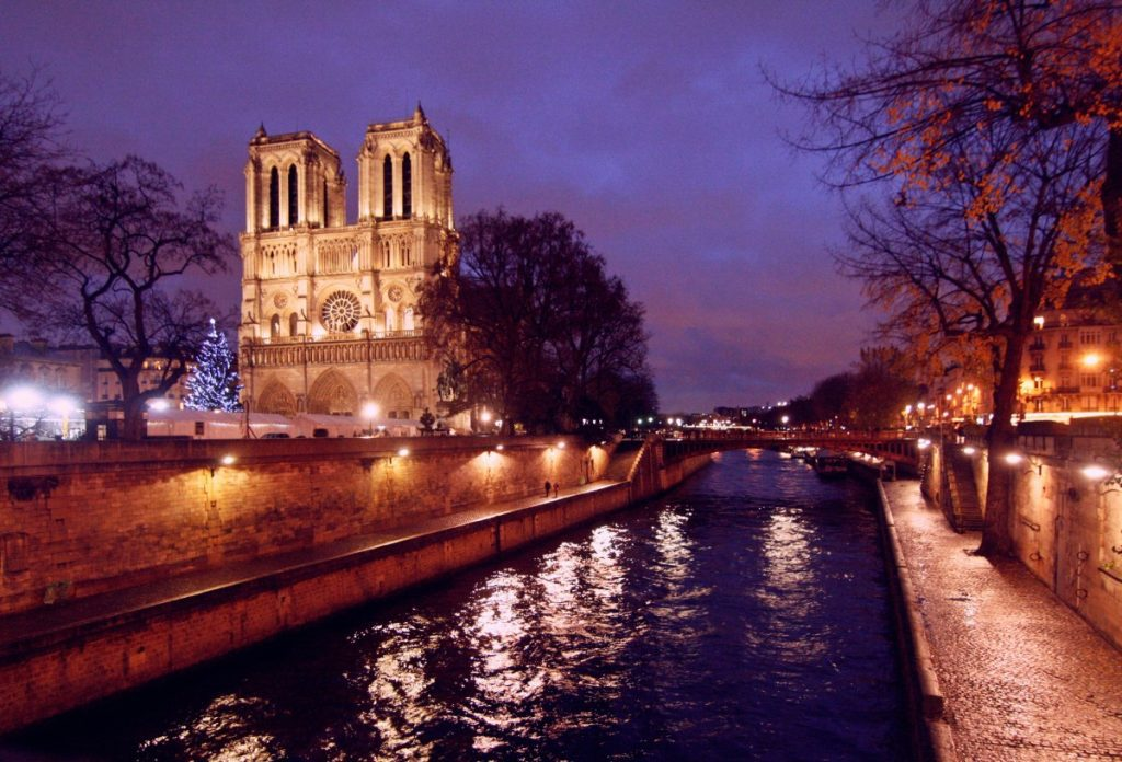 Notre Dame Cathedral at Dusk.