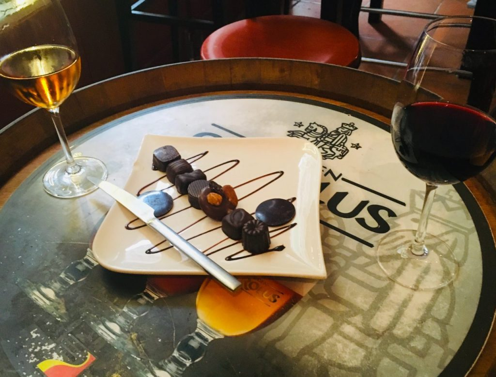 Wine and chocolate at Wine More Time/Courtney Traub/All rights reserved