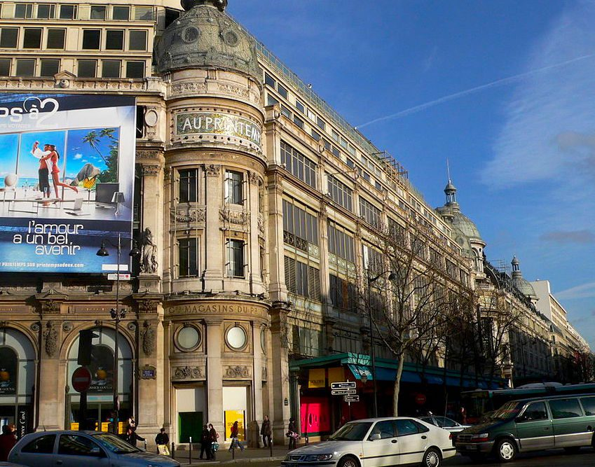 Printemps department store in Grands Boulevards district of Paris/David Monniaux/Creative Commons 2.0 license