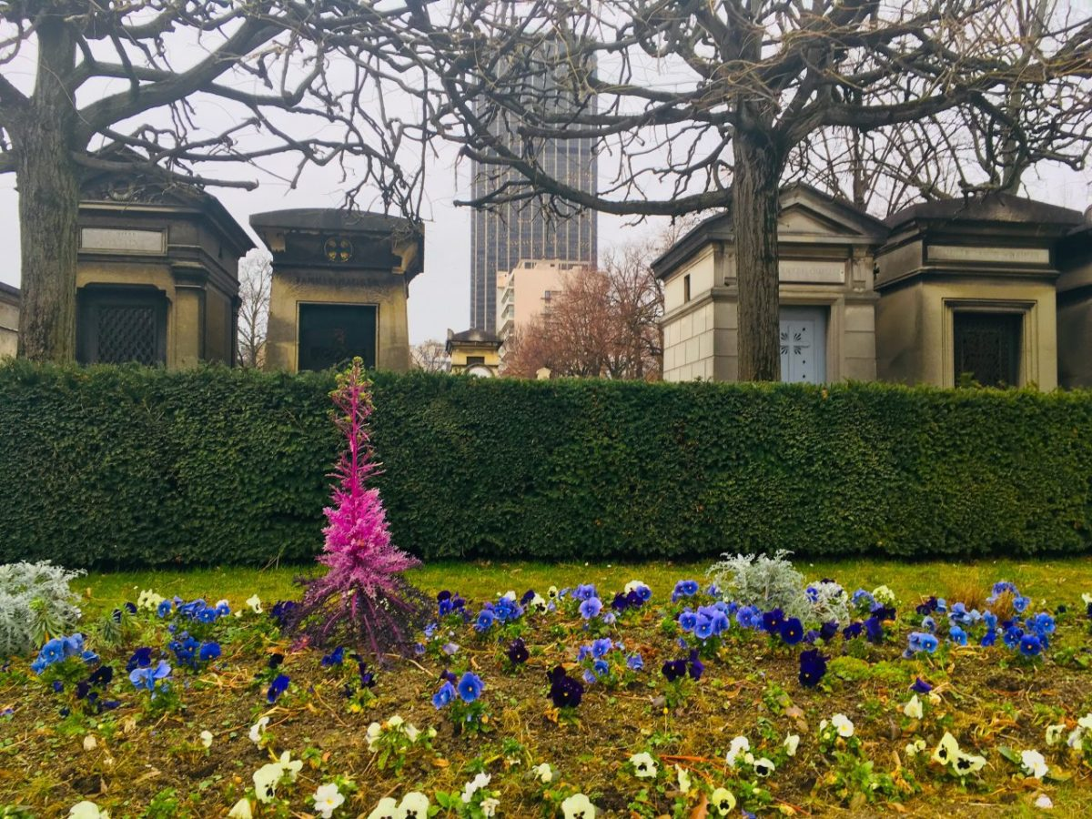 Montparnasse Cemetery, with Montparnasse Tower looming in the background. Image: Courtney Traub/All rights reserved