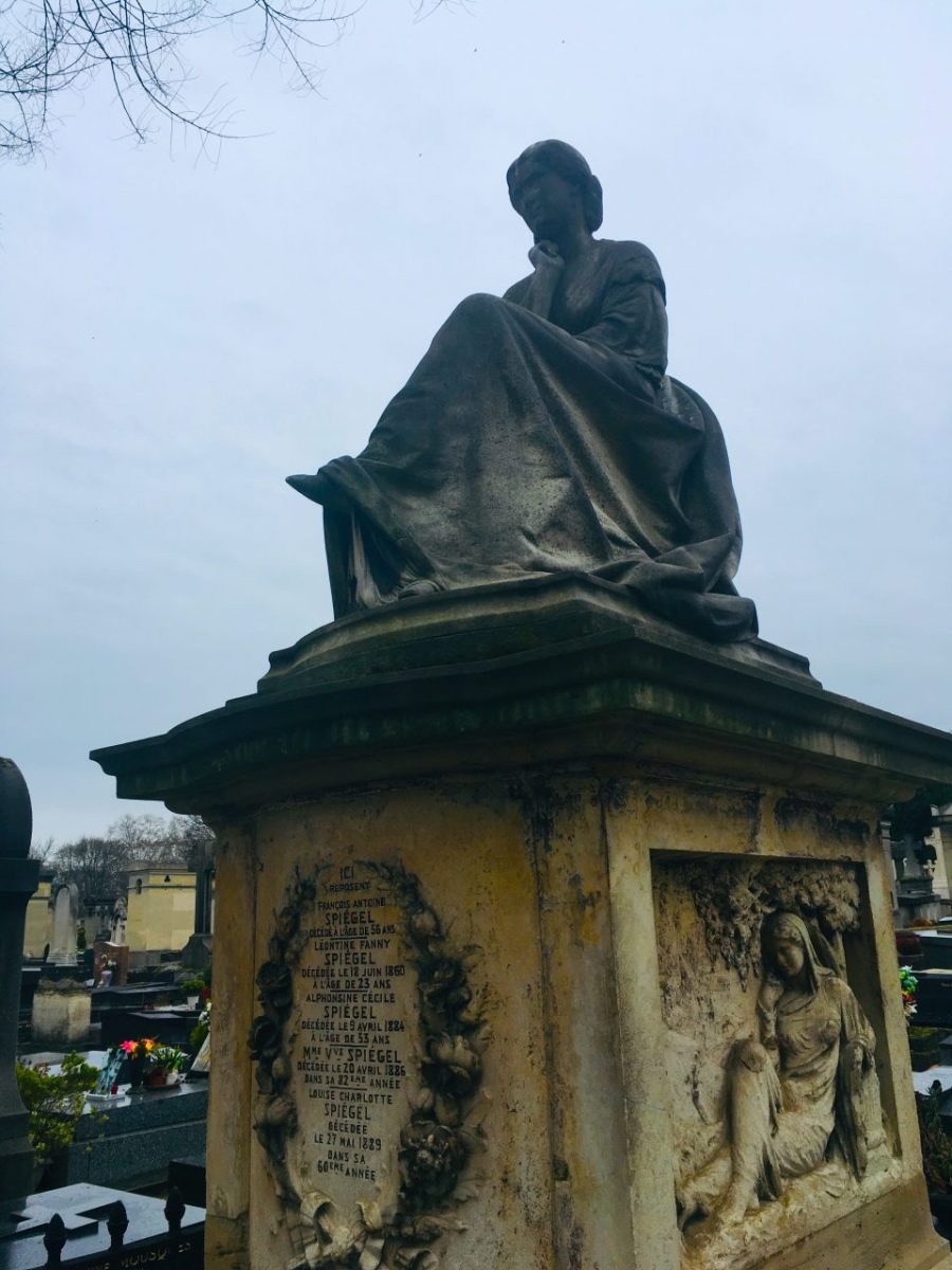 Sculpture of a thinking woman at Montparnasse Cemetery. Image credit: Courtney Traub/All rights reserved