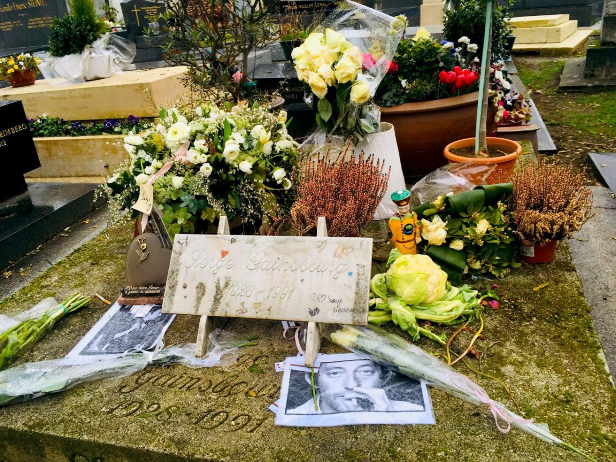 Serge Gainsbourg's grave at Montparnasse cemetery. Image: Courtney Traub/All rights reserved