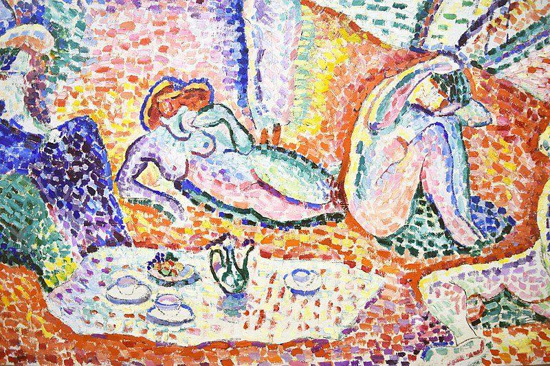 """Henri Matisse, """"Luxe, Calme et Volupté,"""" 1904. Oil on Canvas. Musée National D'Art Moderne, Centre Pompidou, Paris."""