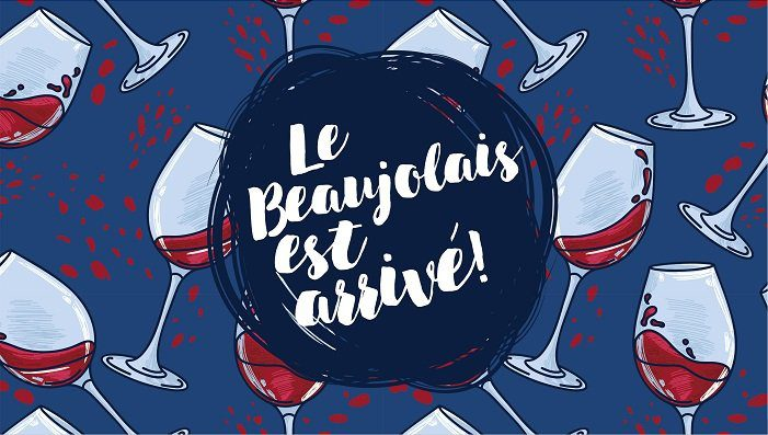 Beaujolais Nouveau wine season in Paris